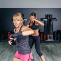 cardio kickboxing at Bayshore Athletic Club